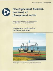 Cover of the issue Intégration, participation sociale et inclusion