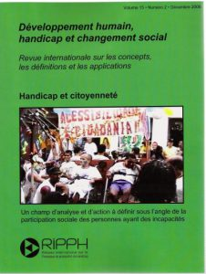Couverture de la revue Handicap et citoyenneté : Un champ d'analyse et d'action à définir sous l'angle de la participation sociale des personnes ayant des incapacités
