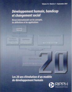 Couverture de la revue Les 20 ans d'évolution d'un modèle de développement humain
