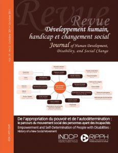 Cover of the issue De l'approbation du pouvoir et de l'auto-détermination: le parcours du mouvement social des personnes ayant des incapacités