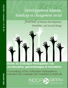 Cover of the issue Actes du Colloque Participation à la vie éducative apprentissages et transitions