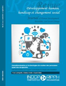 Couverture de la revue Autodétermination et technologies de soutien des personnes ayant des incapacités
