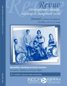 Cover of the issue Sexualité, handicap et droits humains