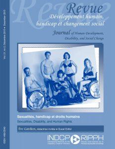 Couverture de la revue Sexualité, handicap et droits humains