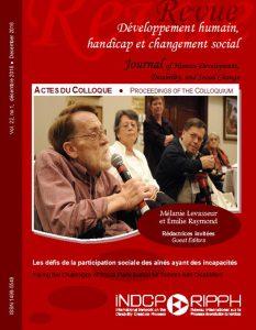 Couverture de la revue Les défis de la participation sociale des aînés ayant des incapacités