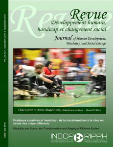 Cover of the issue Pratique sportive et handicap : de la transformation à la mise en scène des corps différents