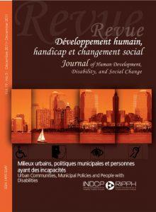 Cover of the issue Milieux urbains, politiques municipales et personnes ayant des incapacités