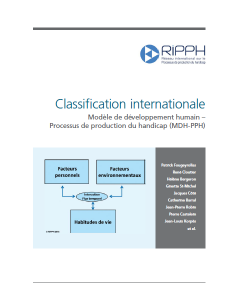 Page couverture de la Classification internationale MDH-PPH